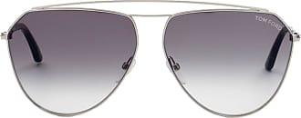 Tom Ford Eyewear Óculos de Sol Aviador Prateado - Mulher - 63 US