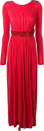 Elisabetta Franchi Vestido com cinto de corrente - Vermelho