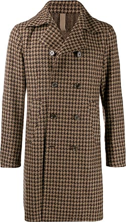 Eleventy double-breasted fitted coat - Marrom