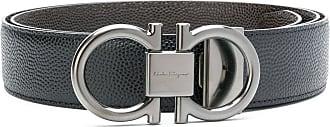 Salvatore Ferragamo Gancini buckle belt - Black