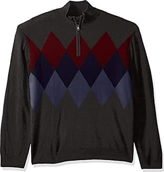 Dockers Mens Soft Acrylic Quarter Zip Sweater, Steelhead 2X-Large