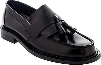 Ikon Mens Original Selecta Slip On Loafer Smart Leather Work Office Shoe - Black - 10