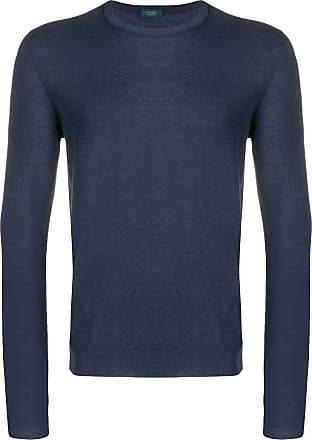 Zanone round neck jumper - Blue