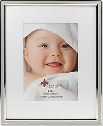 Lawrence Frames 5x7 Gray Enamel and Silver Metal Frame-8x10 Without Mat Picture Frame