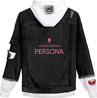 EmilyLe Ladies Love Yourself Hoodie Kpop BTS Map of The Soul Persona Jeans Outerwear Jin Suga J-Hope RM Jimin V Jung Kook (XL, C White Persona)