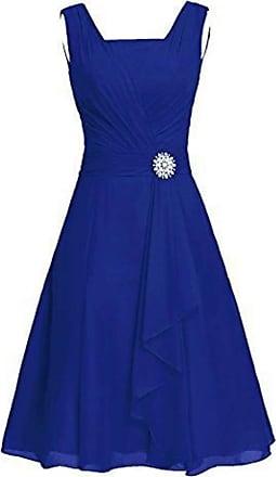 QIYUN.Z Summer 2020 Plus Size Womens Sleeveless Dress Sexy V-Neck Elegant Party Dress Blue 4XL