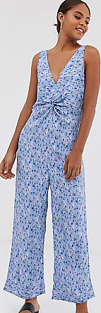 Y.A.S. Tall printed v neck culotte jumpsuit-Multi