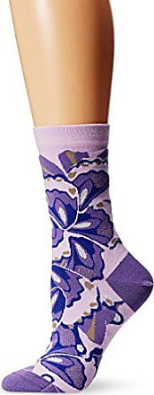Ozone Womens Papillon Collage Sock,Violet,9-11