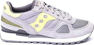 Saucony Sneakers Saucony Shadow Original in Camoscio Uomo SAUCONY cod.21085 Grey - yellow SIZE:11.5 UK