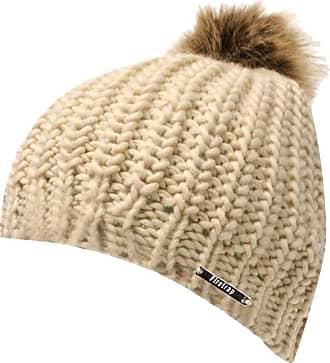 Firetrap Ladies Stylish Pom Pom Beanie Hat Headwear Accessories (Taupe, One Size)