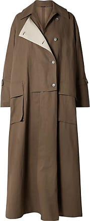 Acne Studios Oversized Double-breasted Linen Trench Coat - Brown
