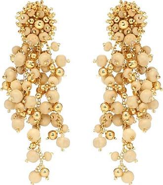 Oscar De La Renta Clip-on drop earrings