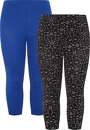Yours Clothing Clothing Womens Plus Size 2 Pack Cropped Leggings Size 18 Blue