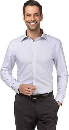Vincenzo Boretti Mens Shirt Regular-fit Kent Collar Classic Design Contrasting Colour 100% Cotton Non-Iron Designer Shirts for Men Formal Office Wedding Ideal with tie