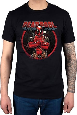 AWDIP Official Marvel Comics Deadpool Crossed Arms T-Shirt Black
