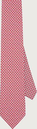 Salvatore Ferragamo Uomo Cravatta in seta stampa Meteo Rosso