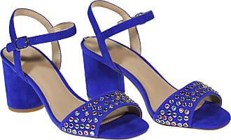 Guess sandalo tacco largo, 35 / blu