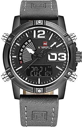NAVIFORCE Relógio Masculino Naviforce 9095 Analógico e Digital - Cinza