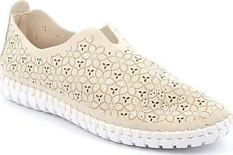 GrÜnland Magi Slip ON with Perforated Upper Woman, Glitters, SC4915 F6 Beige Beige Size: 6 UK
