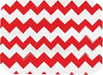 KESS InHouse Kess Original Candy Cane Red Chevron Placemat, 18 by 13-Inch
