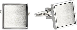 Kenneth Cole Reaction Kenneth Cole Reaction Mens Polished Square With Brushed Silver Center Cufflinks, Rhodium, One Size