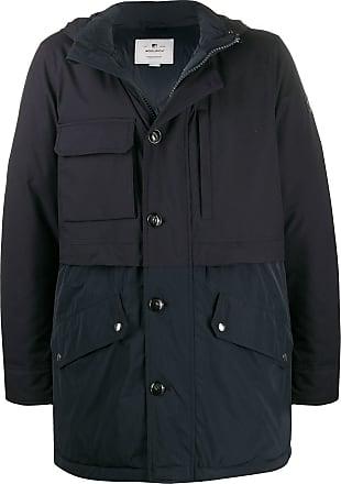 Woolrich long-sleeve panelled parka - Blue