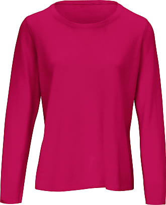 include Round neck jumper in pure new wool and cashmere include bright pink