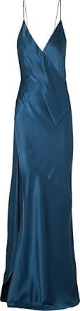 Michael Lo Sordo Draped Silk-satin Gown - Navy