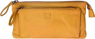 DuDu Portafoglio donna in pelle vintage modello busta con 2 zip DUDU Saffron Yellow
