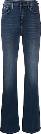 7 For All Mankind Calça jeans flare Lisha cintura alta - Azul