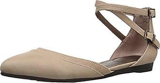 Life Stride Womens Quincy Pointed Toe Flat, Taupe, 8 M US