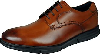 Base London Force Mens Leather Shoes Lace-Up Brogues-Brown-10