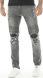 883 Police 833 Police biker jeans with a heavily distressed finish