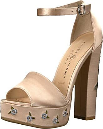 Chinese Laundry Womens Amy Platform Dress Sandal, Now Nude Satin, 9 M US