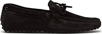 Tod's Gommino Suede Driving Shoes - Mens - Black