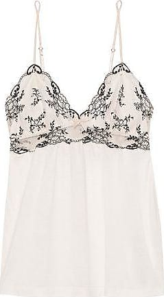 17dfe9d54 Eberjey Eberjey Woman Paloma Embroidered Lace-paneled Jersey Camisole  Off-white Size S