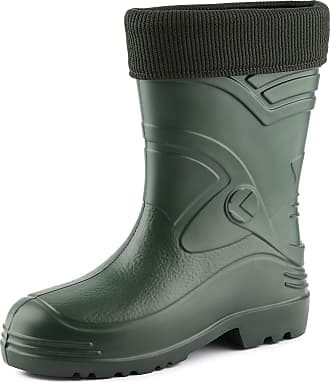 Ladeheid Mens EVA Extra Light Wellington Boots Rainy Wellies Rain Boots KL034 (Olive, 11.5 UK)