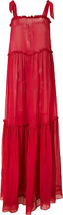 Amir Slama silk maxi dress - Red