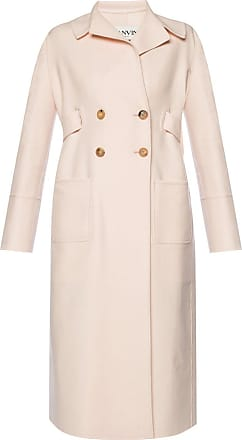 Lanvin Belted Double-breasted Coat Womens Pink