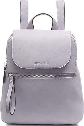 Calvin Klein Womens Elaine Bubble Lamb Novelty Key Item Flap Backpack, Dusty Lilac, One Size