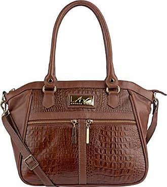 Andrea Vinci Bolsa de couro feminina Lucy pinhão