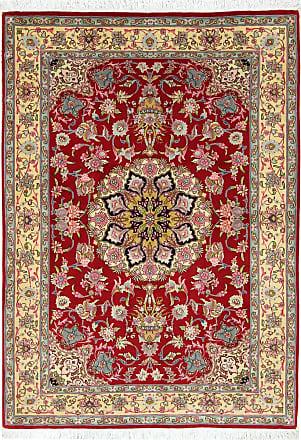 Nain Trading 147x103 Oriental Tabriz 50Raj Rug Rust/Pink (Wool/Silk, Iran/Persia, Hand-Knotted)