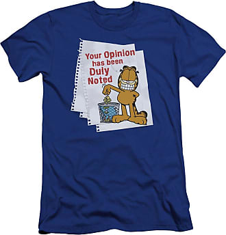 Popfunk Garfield Duly Noted Unisex Adult Canvas Brand T Shirt for Men and Women Royal Blue