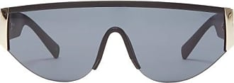 Le Specs Viper Shield Matte-acetate Sunglasses - Womens - Black Gold