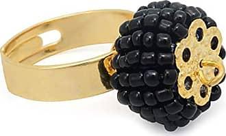 Tinna Jewelry Anel Dourado Pneu (Preto)