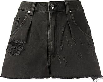 Iro denim distressed shorts - Black