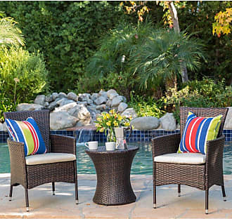 BEST SELLING HOME Outdoor Carioca 3 Piece Wicker Patio Chat Set - 299426