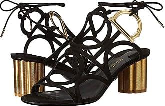 27c32cb54d4d1f Salvatore Ferragamo Geometric Lace-Up Sandal (Nero Suede Kid RO) High Heels