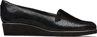 Van Dal Peel Lightweight Low Wedge Loafer, Black Crackle Print, Size 5 UK