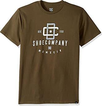 DC Mens Graphic Short Sleeve T-Shirt, Capped Dark Olive, Medium